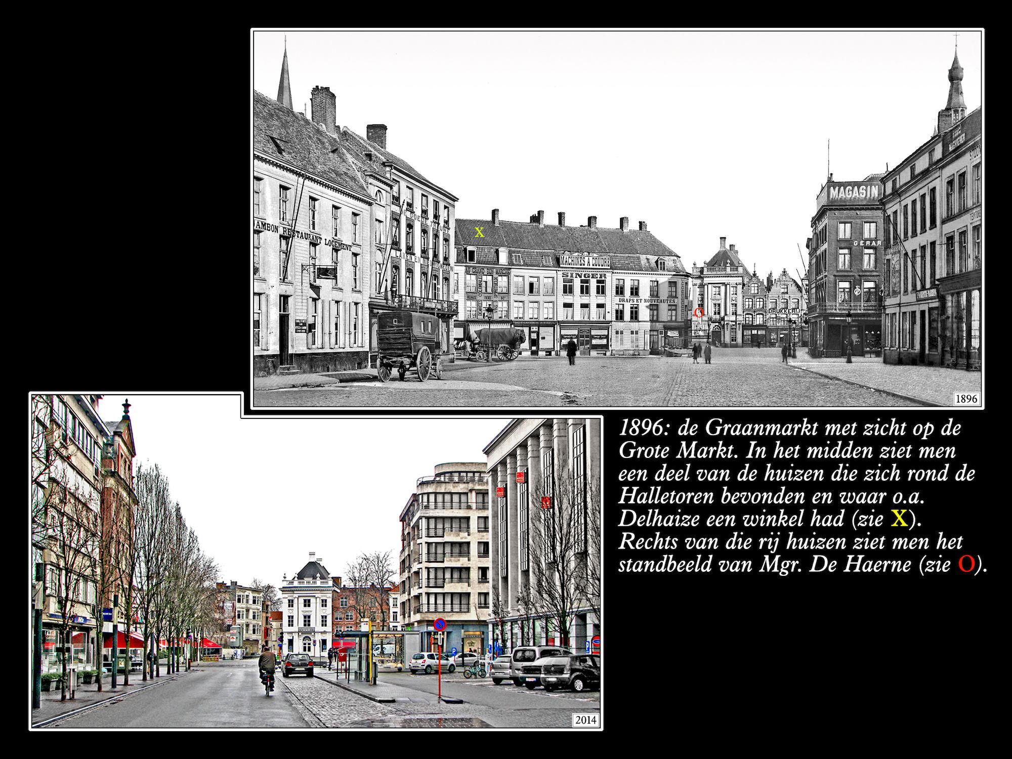 Graanmarkt 1896 en 2014