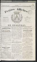 Petites Affiches De Courtrai 1837-02-05
