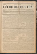 L'echo De Courtrai 1914-02-08 p1