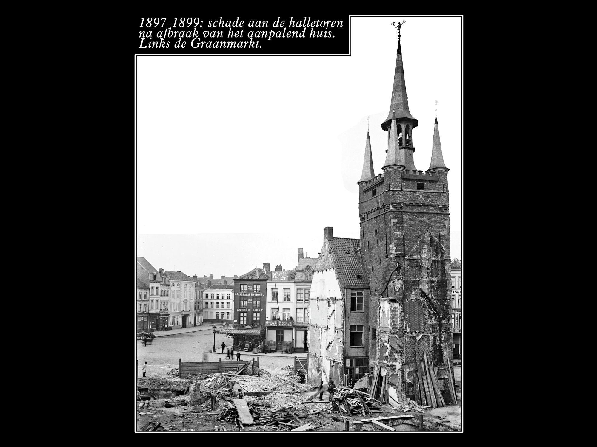 Schade aan de Halletoren