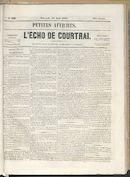 L'echo De Courtrai 1858-08-25