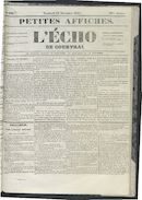 L'echo De Courtrai 1852-11-12