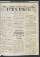 Petites Affiches De Courtrai 1842-01-23