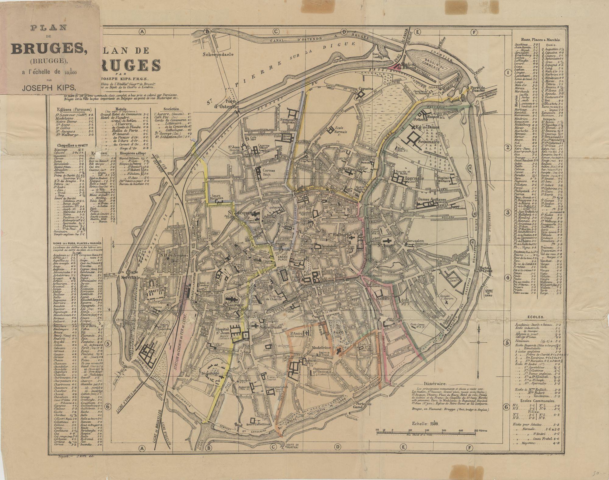 Westflandrica - Brugge, stadsplan