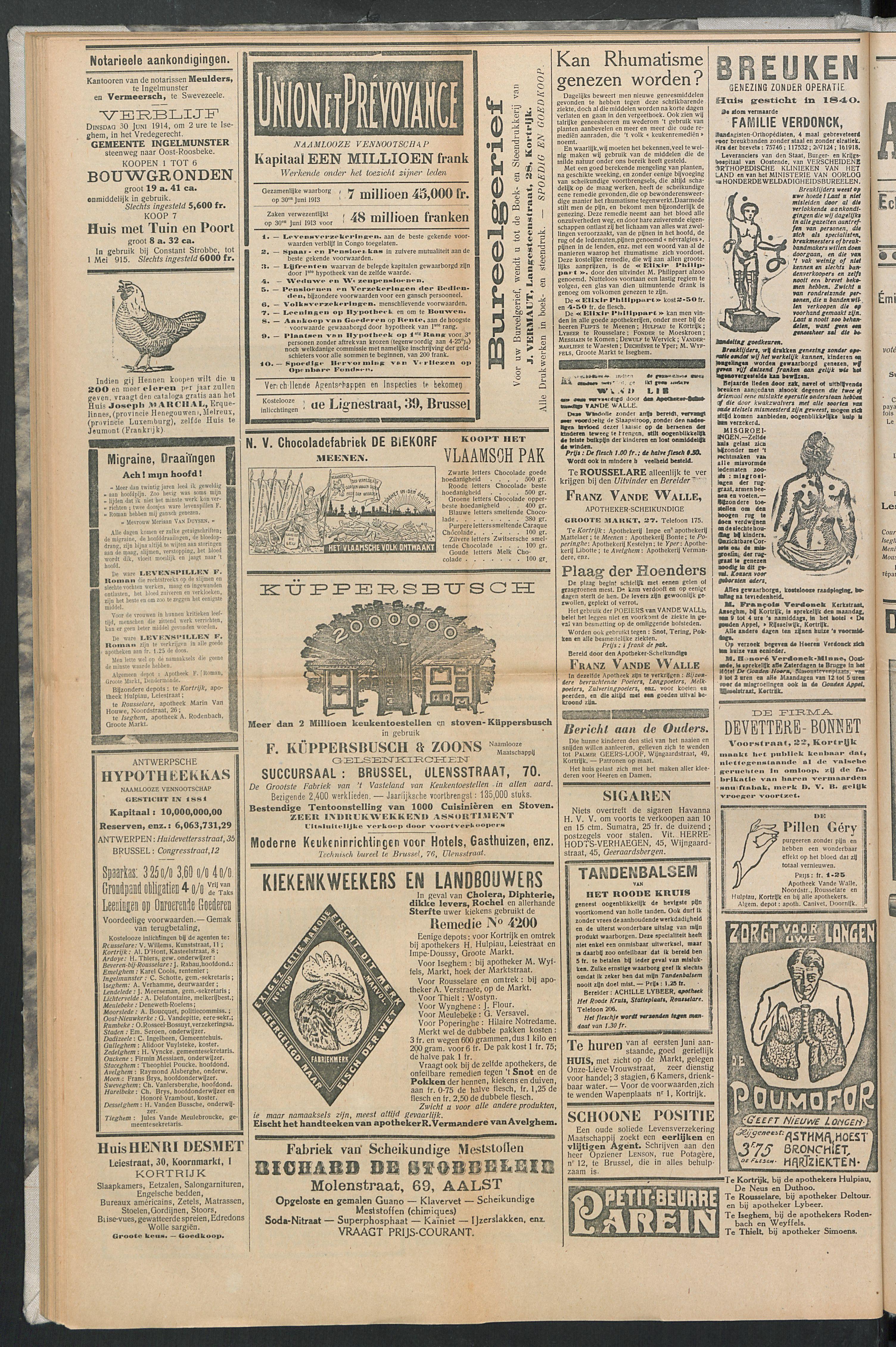 Het Kortrijksche Volk 1914-06-28 p6