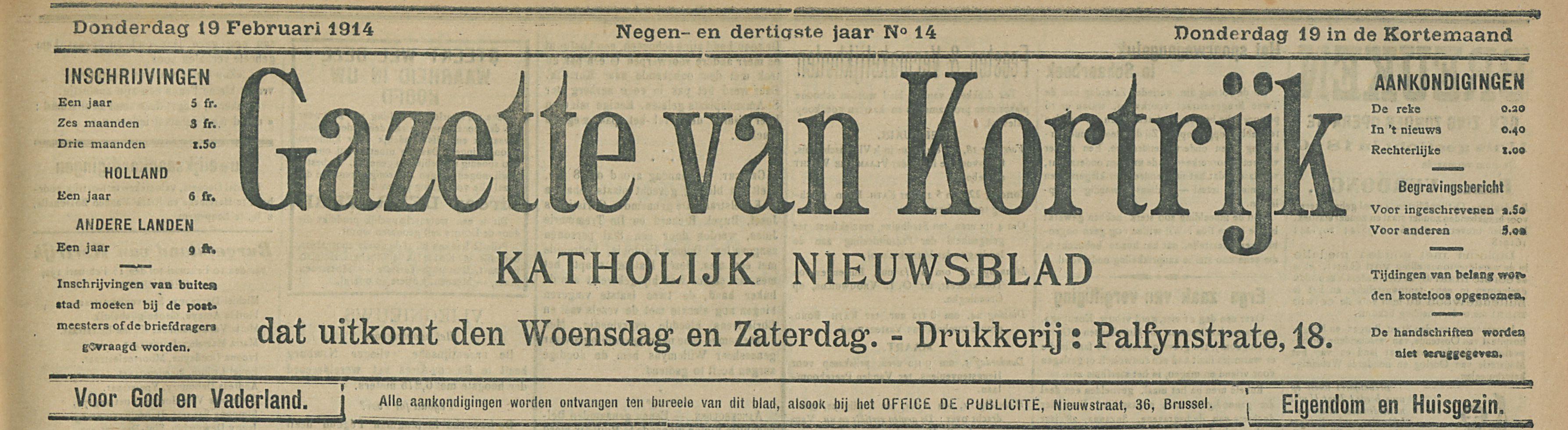 Gazette van Kortrijk