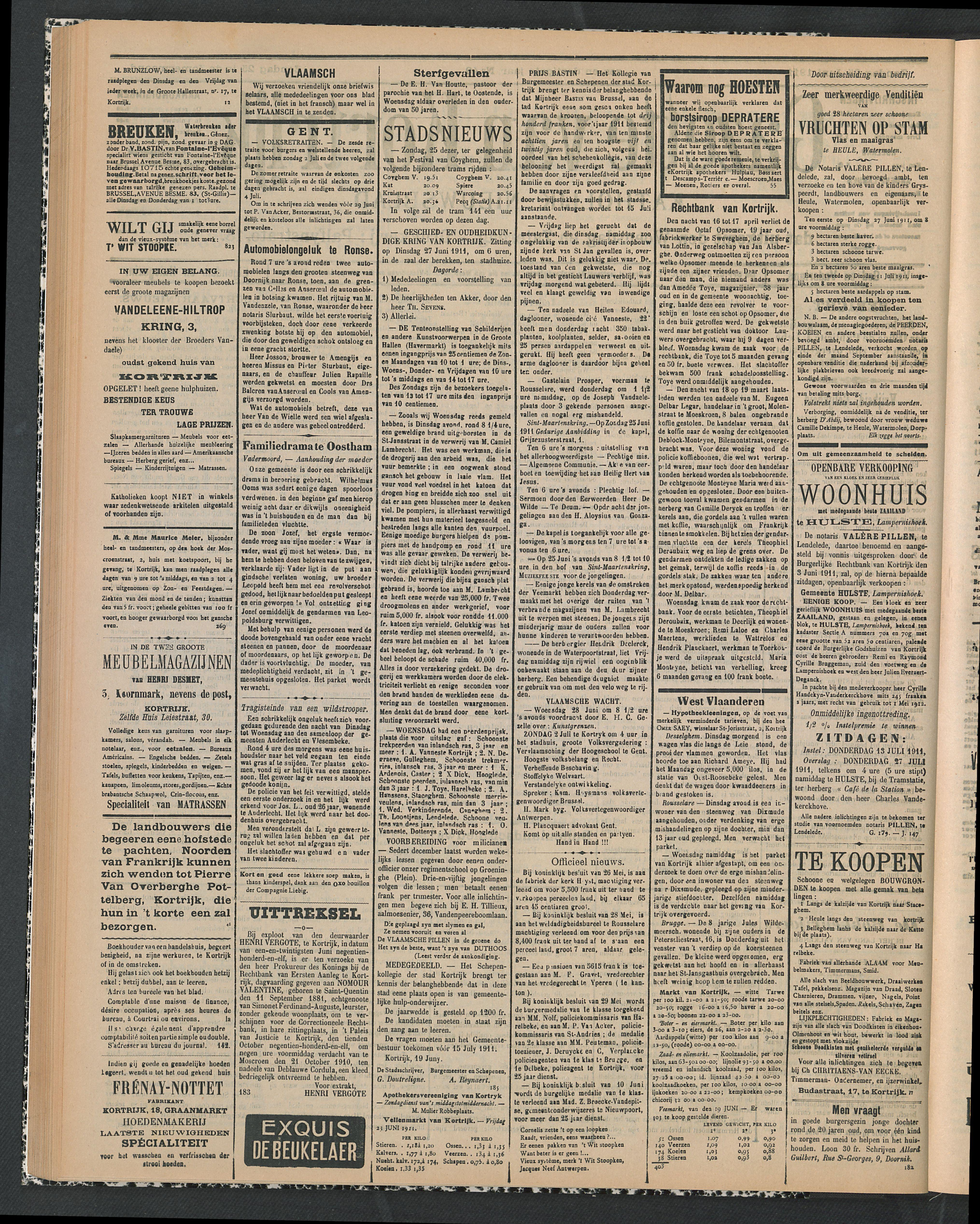 Gazette Van Kortrijk 1911-06-25 p2