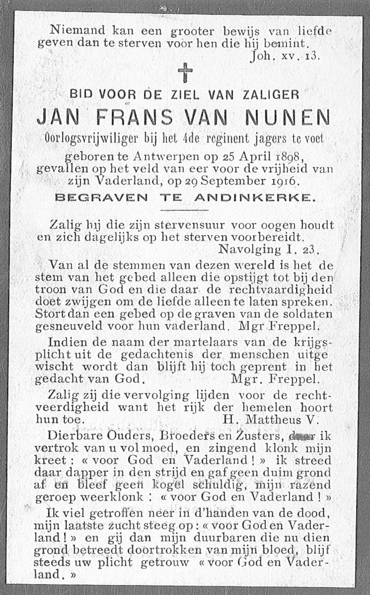 Jan Frans Van Nunen