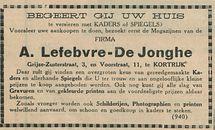 A Lefebvre De Jonghe