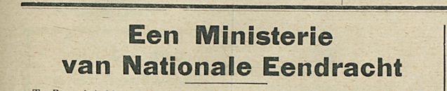 Een Ministerie van Nationale