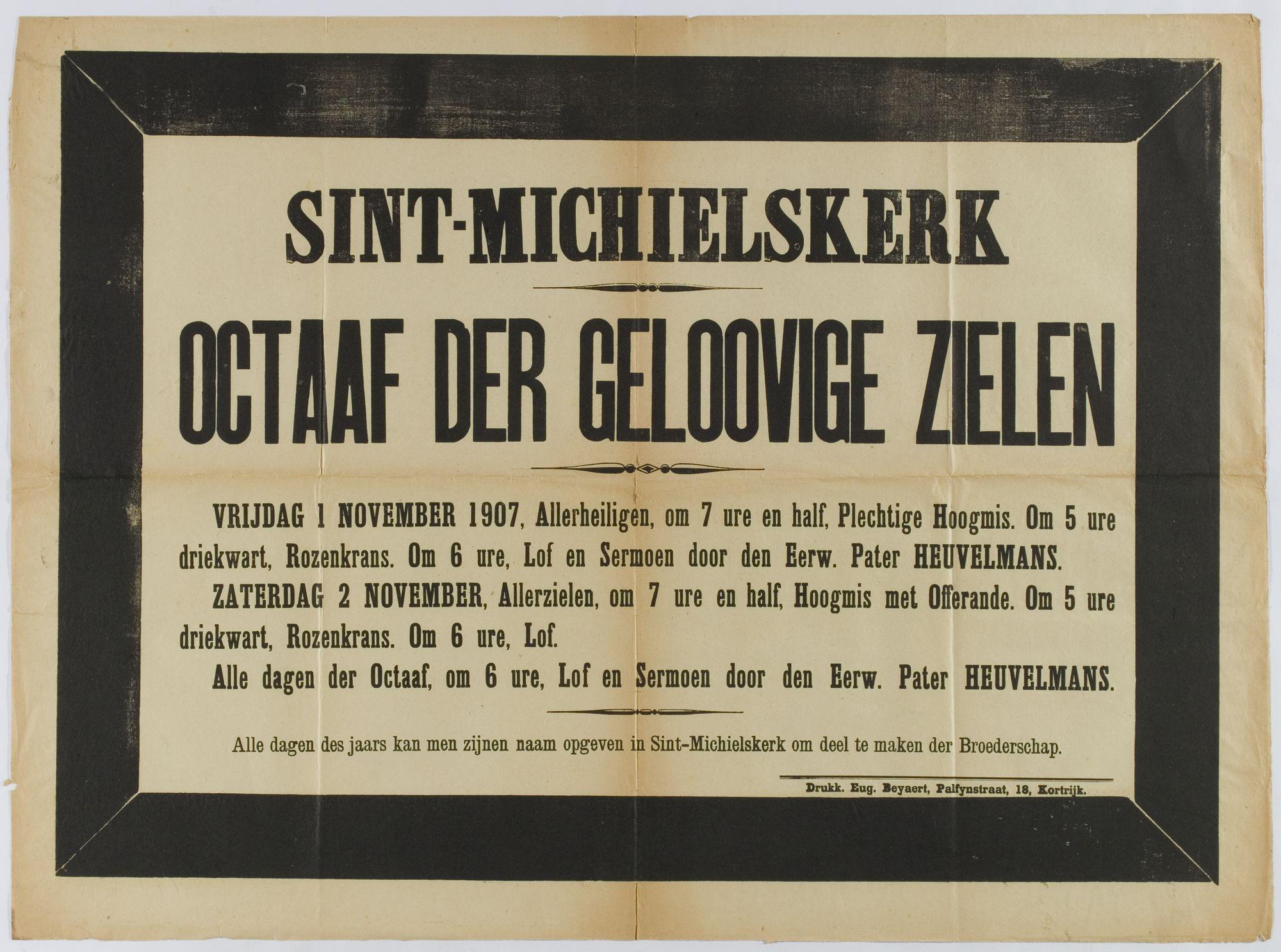 Plechtigheden Sint-Michielskerk 1907