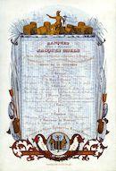 Westflandrica - Porseleinkaart met menu Kamer van Koophandel