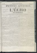 L'echo De Courtrai 1852-12-08