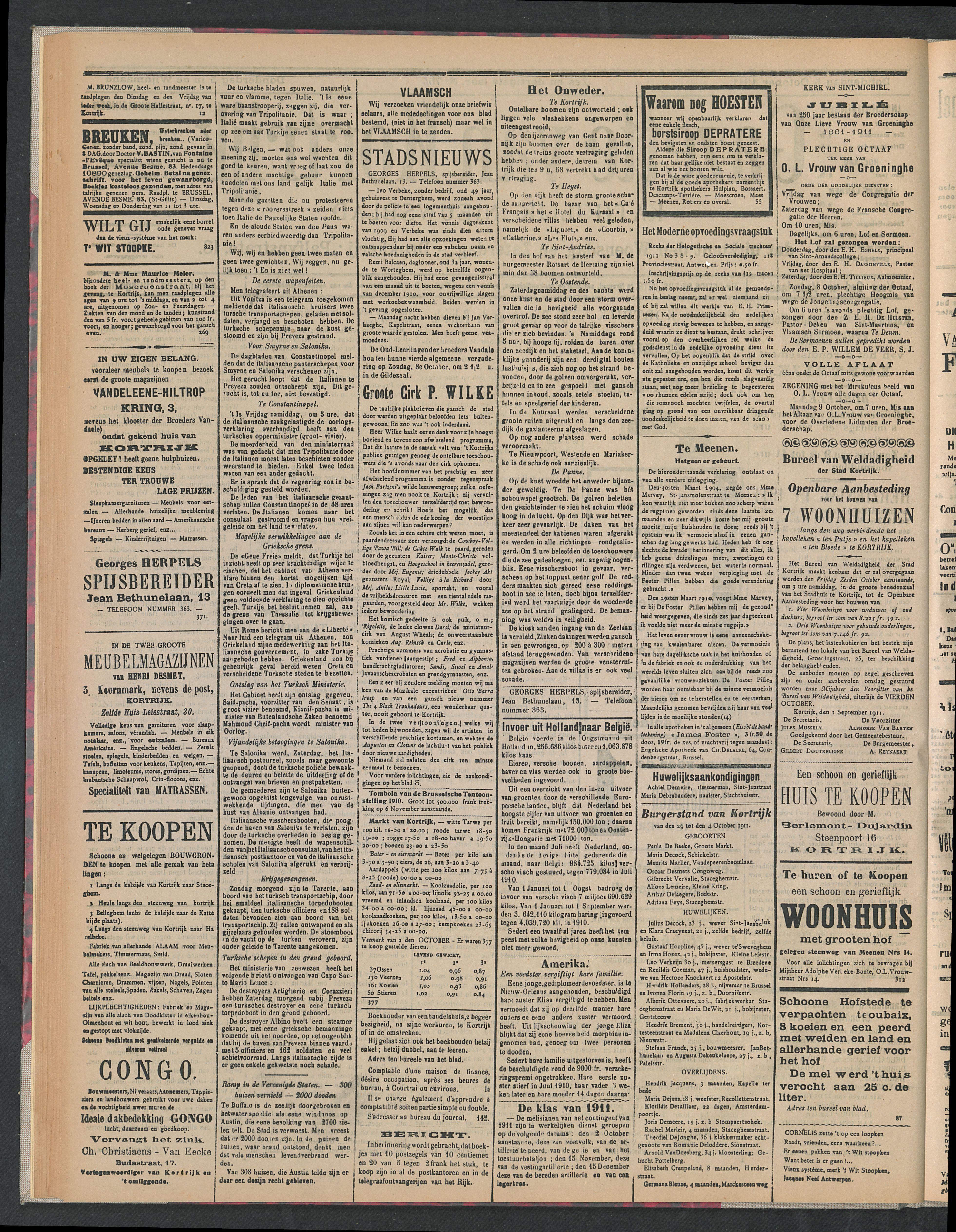 Gazette Van Kortrijk 1911-10-05 p2