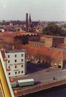 Kortrijk vanuit reuzenrad op Paasfoor 1976