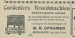 Cordeniers Broedmachien