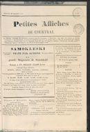 Petites Affiches De Courtrai 1835-09-20