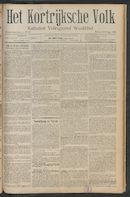 Het Kortrijksche Volk 1911-08-13 p1