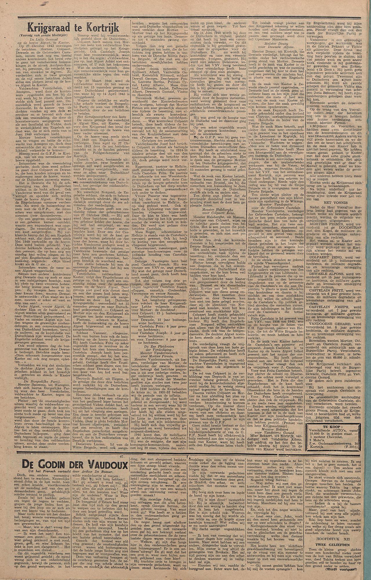 Kortrijksch Handelsblad 31 december 1946 Nr105 p4