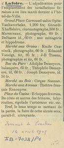 Paasfoor 1905: Journal de Courtrai