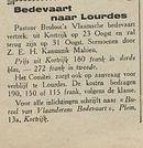 Bedevaart naar Lourdes