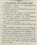 VLAAMSCH KALENDER 1923