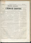 L'echo De Courtrai 1858-08-27 p1