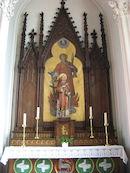 Zijaltaar gewijd aan de Heilige Laurentius in de St Laurentiuskerk van Kooigem
