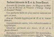 Parfums nouveaux de E. et A. Jonas-Hanart
