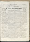 L'echo De Courtrai 1858-07-14