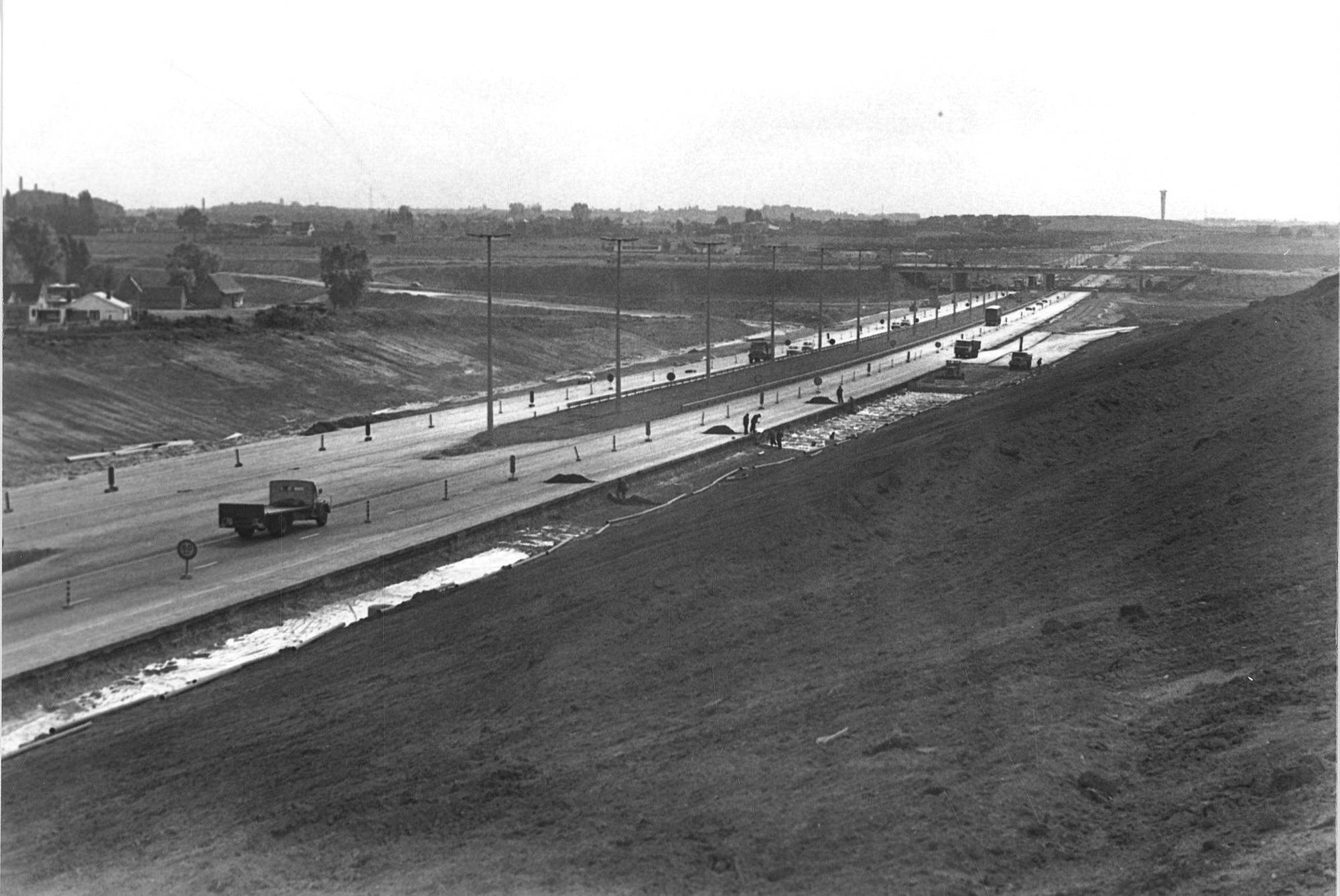 Marke aanleg snelweg E3, E17