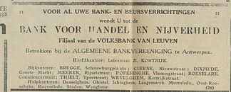 BANK VOOR HANDEL EN NIJVERHEID