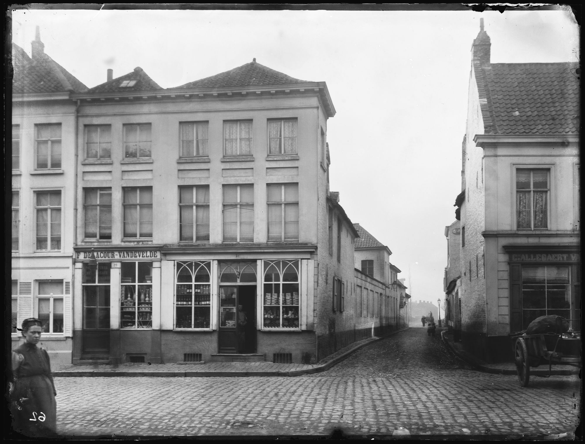 Overleiestraat circa 1895