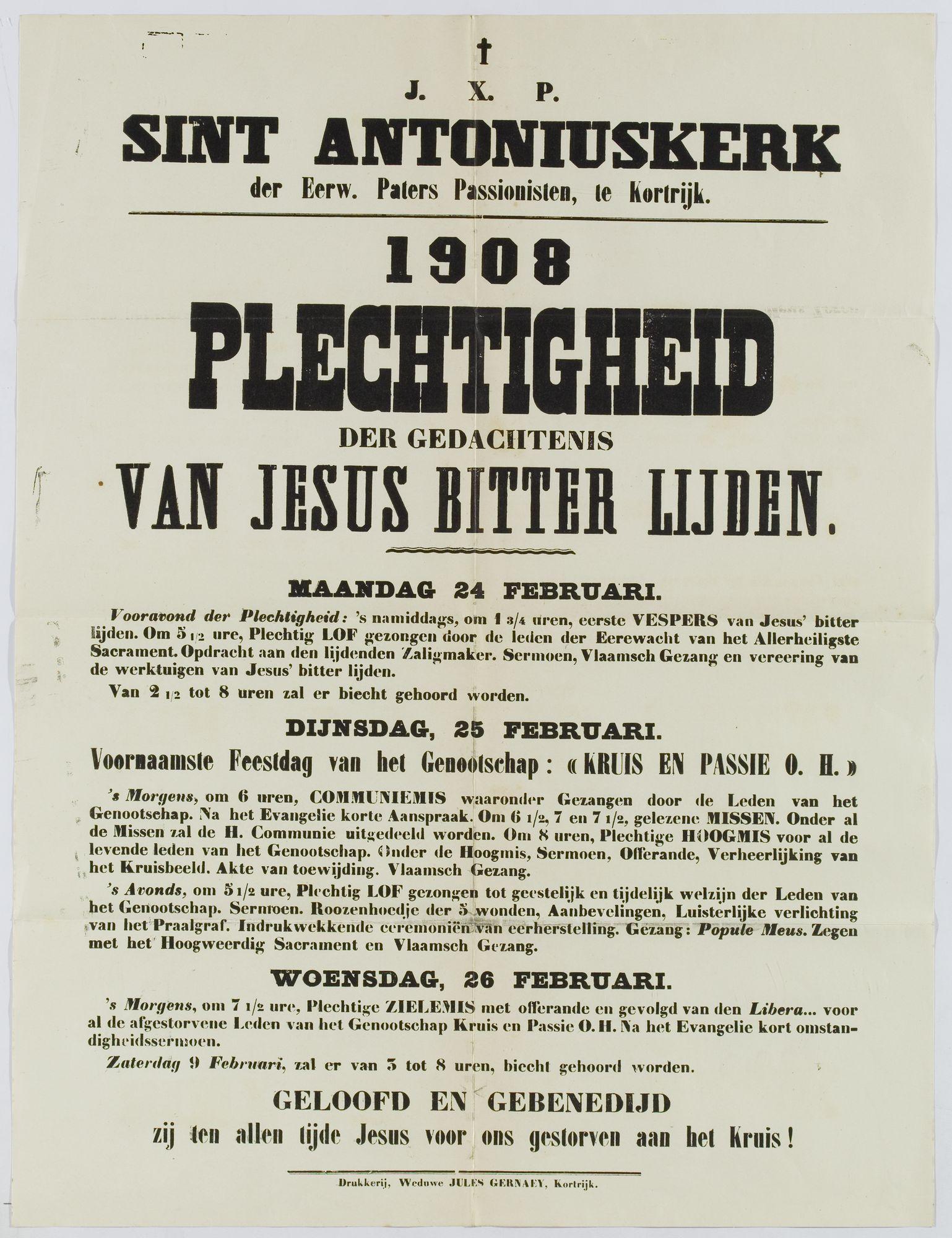 Plechtigheden Sint-Antoniuskerk 1908