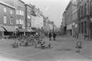 Aanleg van de winkelwandelstraat in de Lange Steenstraat