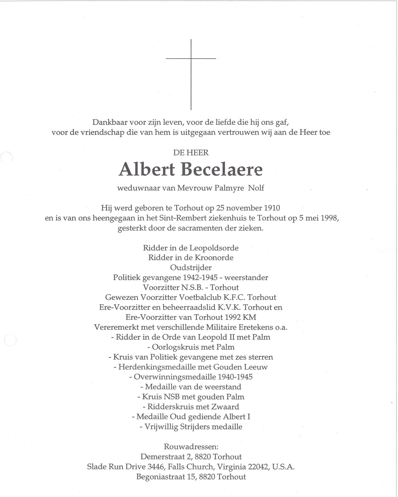Albert Becelaere