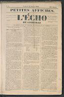 L'echo De Courtrai 1849-01-12 p1