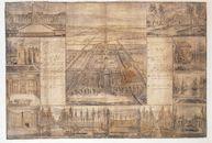 Westflandrica - Panoramisch gezicht op het kasteel van Male (18e eeuw)