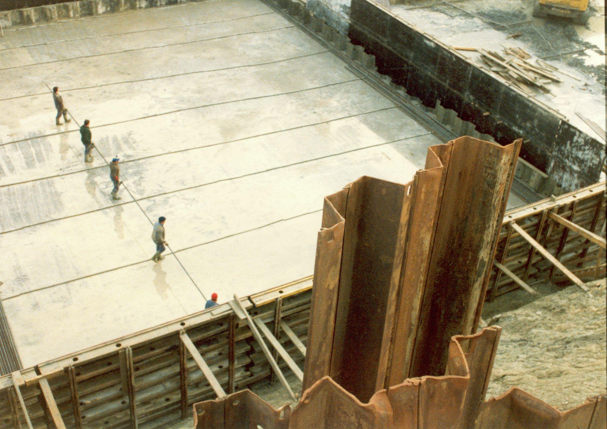 Bouw nieuwe sluis Zwevegem 1988