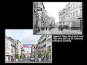 Leiestraat rond 1900 en in 2011.