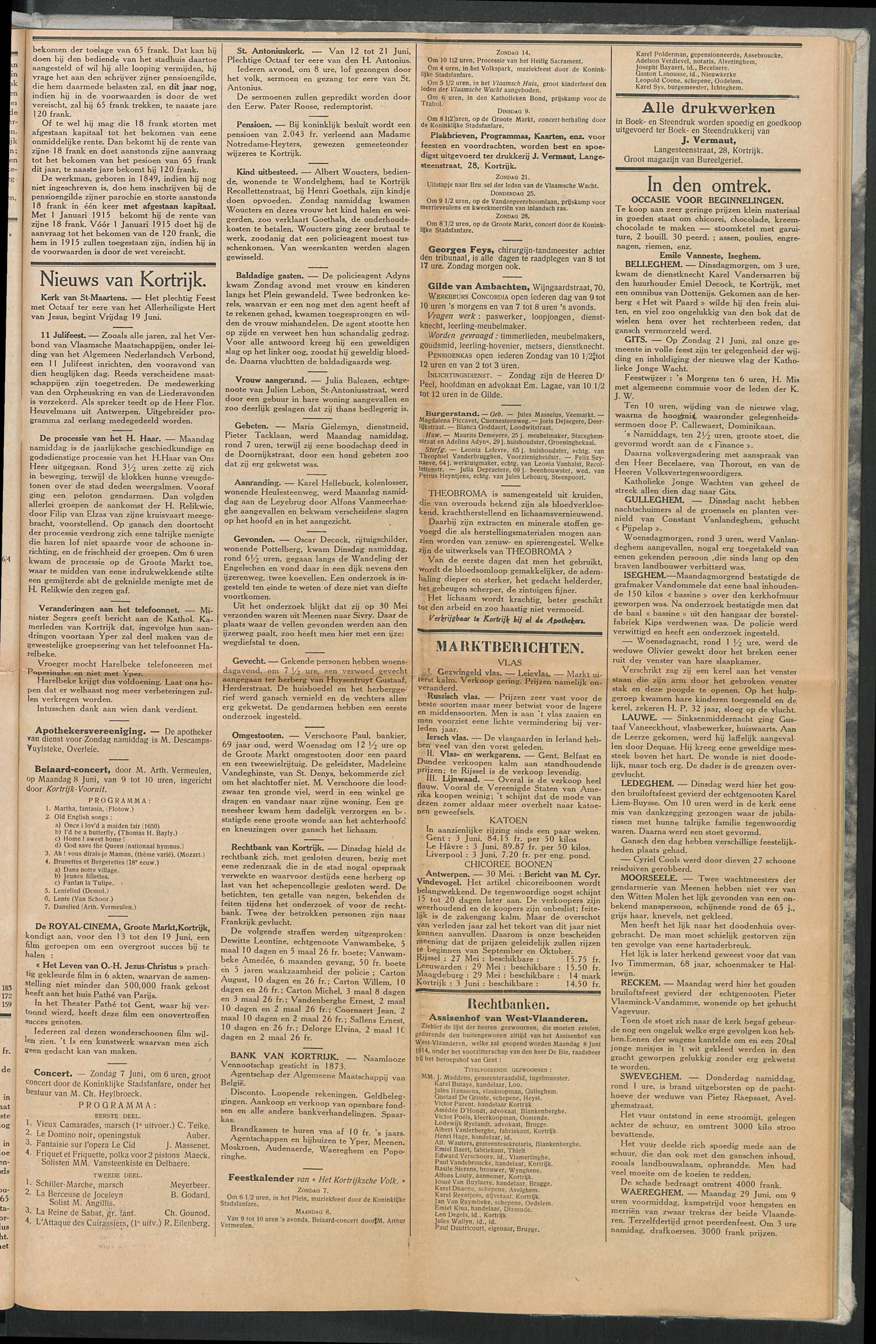 Het Kortrijksche Volk 1914-06-07 p3