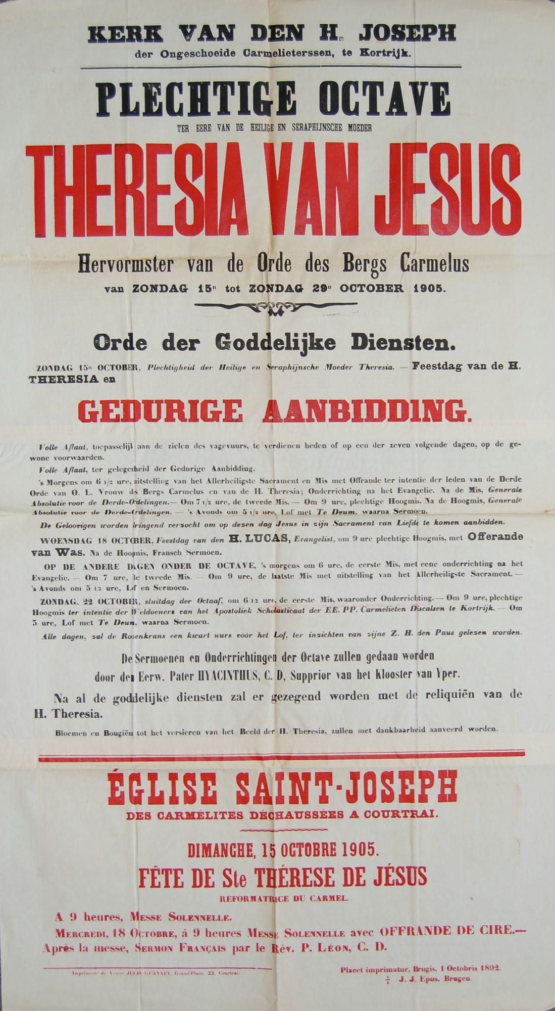 Plechtigheid Sint-Jozefskerk in 1905
