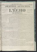 L'echo De Courtrai 1852-12-22