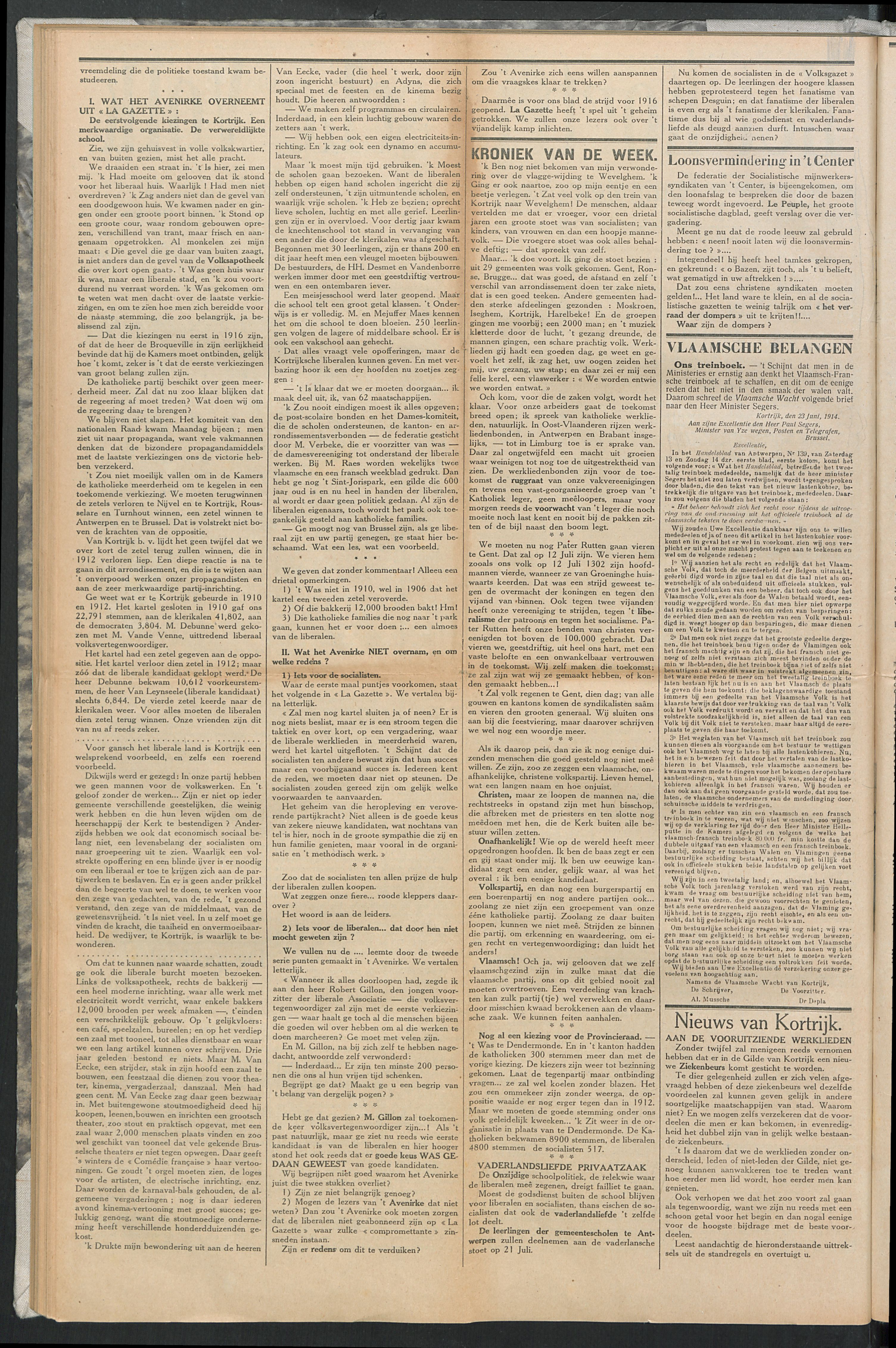 Het Kortrijksche Volk 1914-06-28 p2