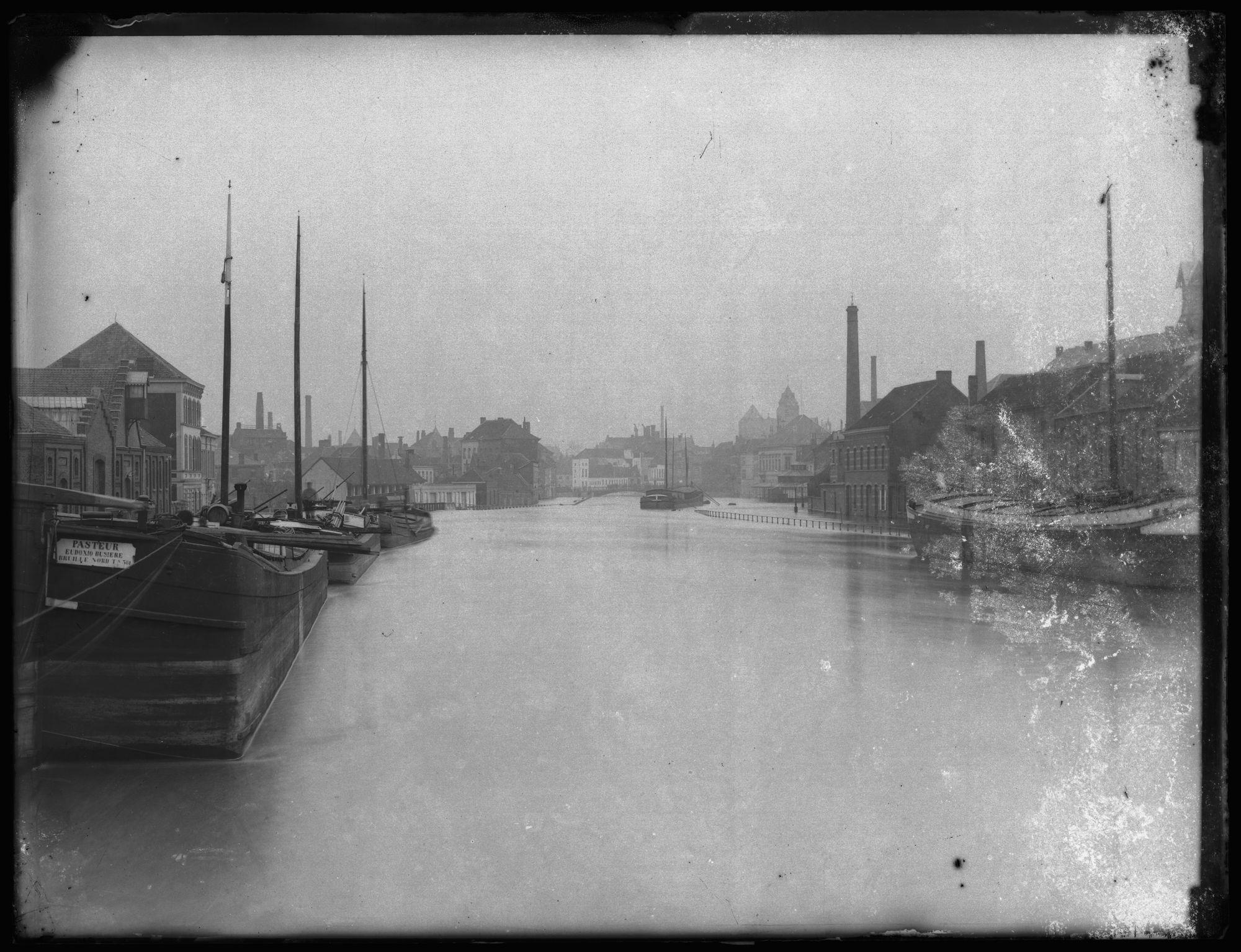 Overstroming van de Leie eind 19de eeuw