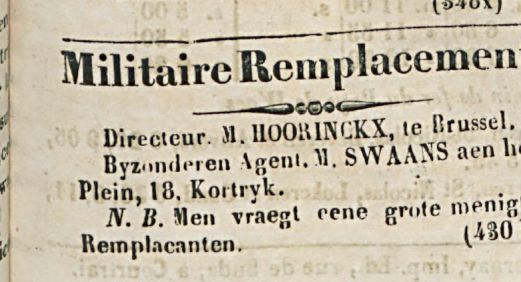 Militaire Remplacement
