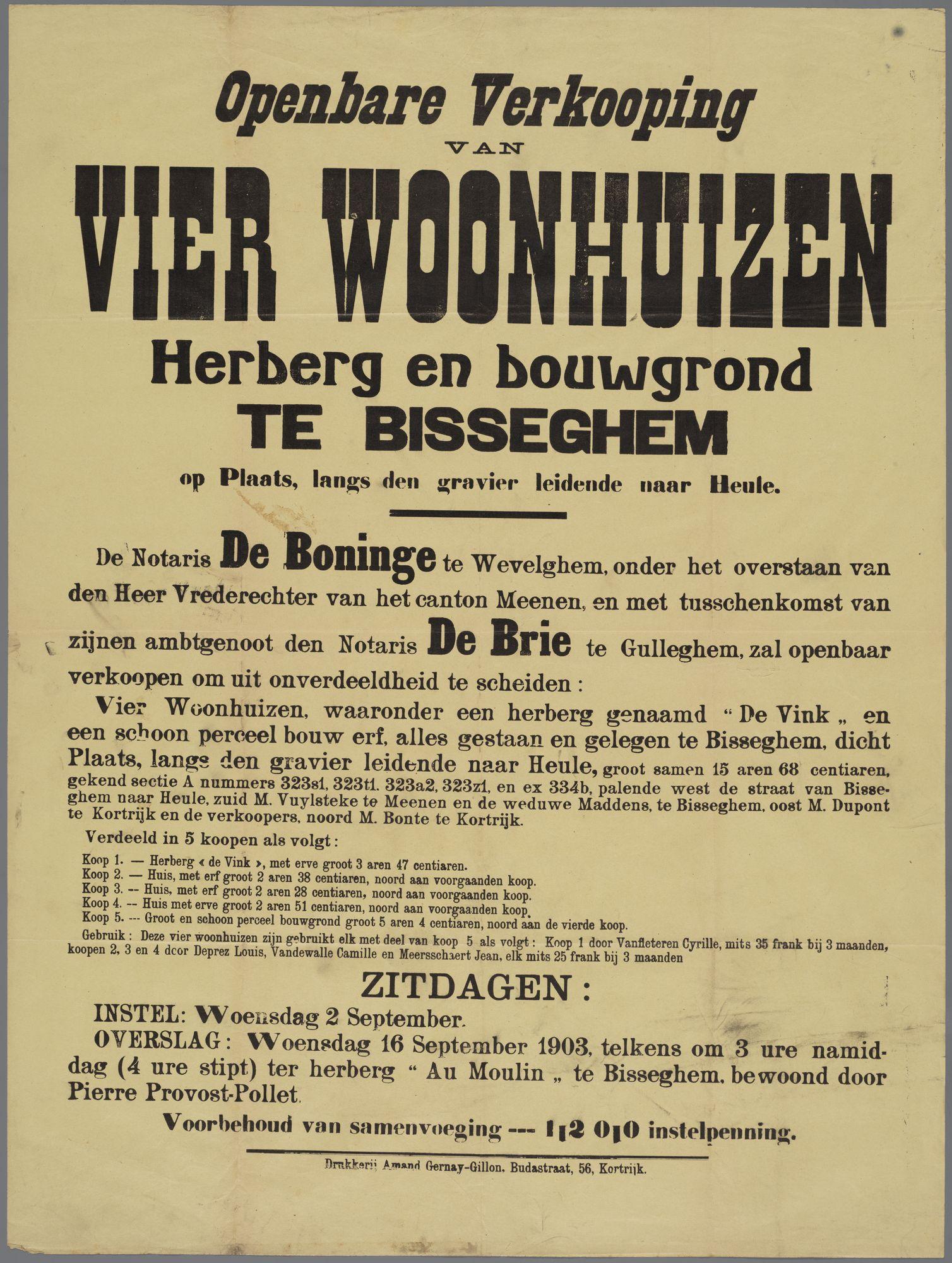 Openbare verkoop 1903