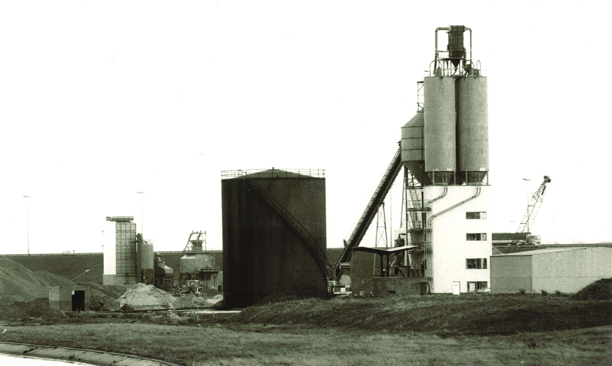 Betoncentrale van de firma Despriet 1975