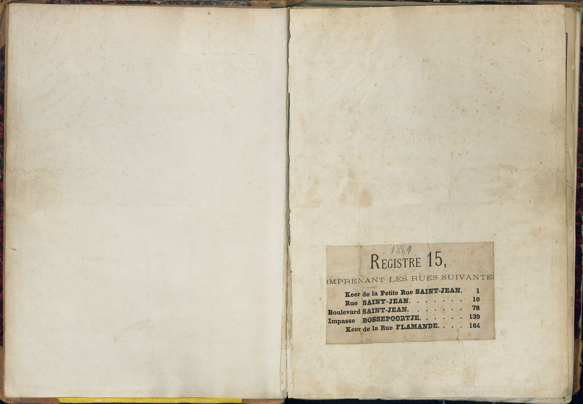 Bevolkingsregister Kortrijk 1880 boek 15