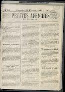 Petites Affiches De Courtrai 1842-02-20